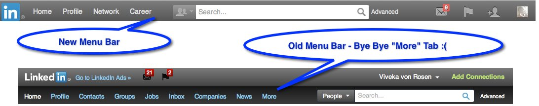 LinkedIn Menu Bar - Updated
