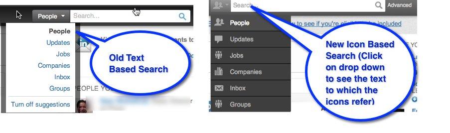LinkedIn Search Box Update