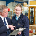 CEO with employee