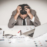 CEO, president or business owner experiencing stress.